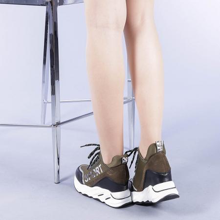 Pantofi sport dama Petrina verzi3