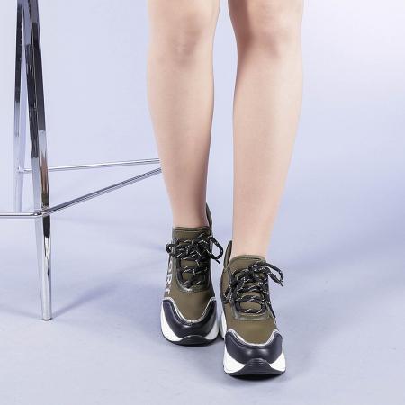 Pantofi sport dama Petrina verzi2