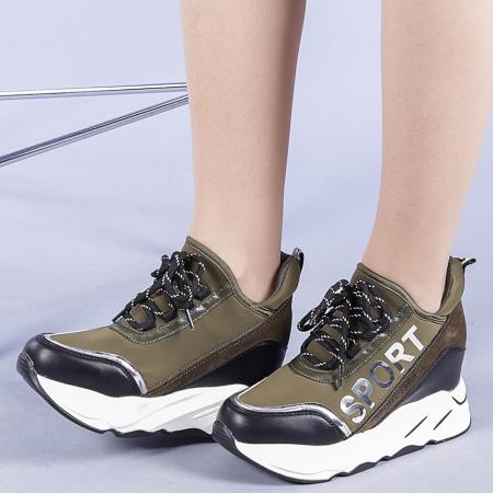Pantofi sport dama Petrina verzi0