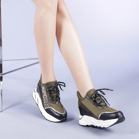 Pantofi sport dama Petrina verzi1