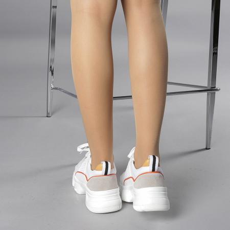 Pantofi sport dama Rane alb cu rosu3