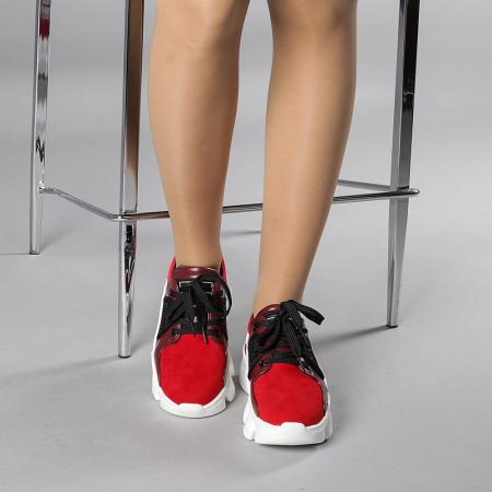 Pantofi sport dama Rane rosii1