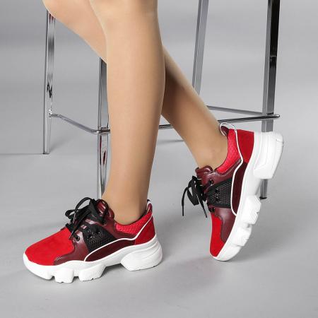 Pantofi sport dama Rane rosii2