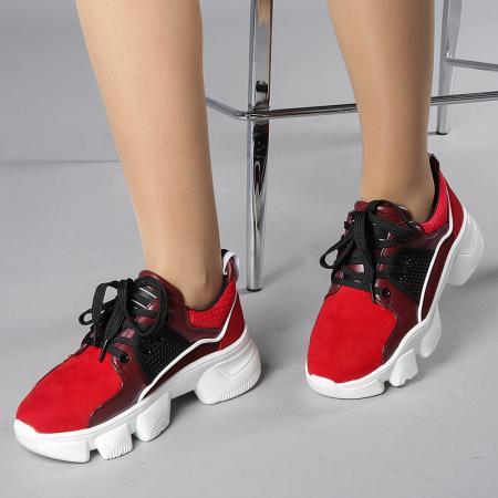 Pantofi sport dama Rane rosii0