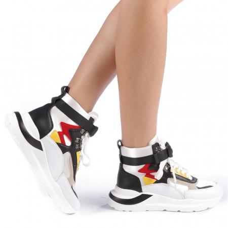 Pantofi sport dama Renee albi0
