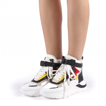 Pantofi sport dama Renee albi1