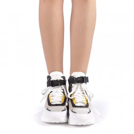 Pantofi sport dama Renee albi3