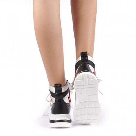 Pantofi sport dama Renee albi2