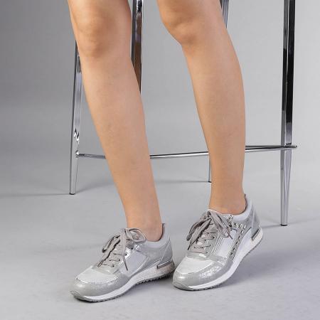 Pantofi sport dama Ressie argintii2