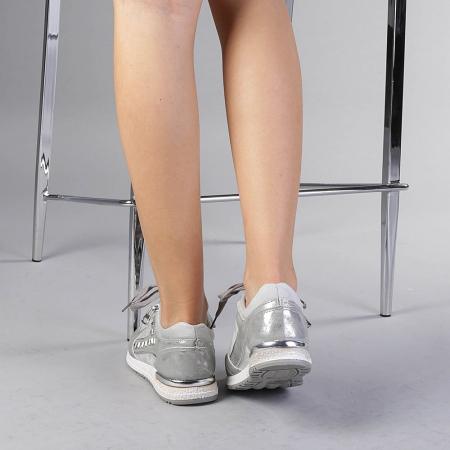 Pantofi sport dama Ressie argintii3
