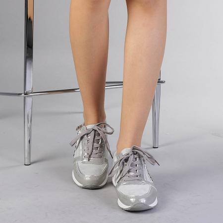 Pantofi sport dama Ressie argintii1