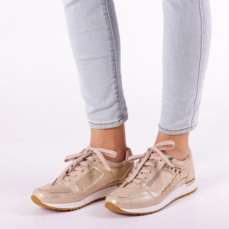 Pantofi sport dama Ressie bej3