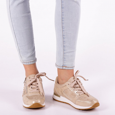 Pantofi sport dama Ressie bej5