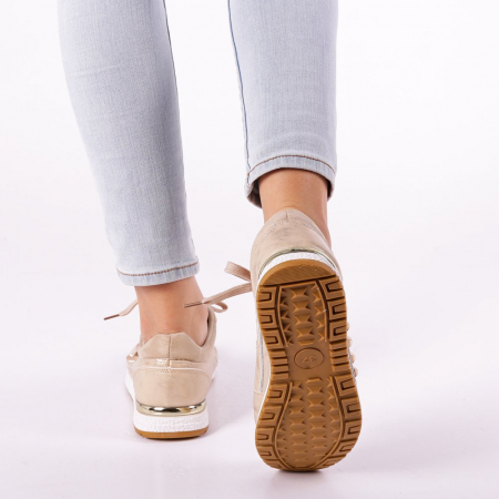 Pantofi sport dama Ressie bej4