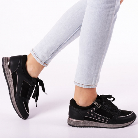 Pantofi sport dama Ressie negri0