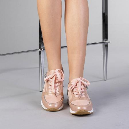Pantofi sport dama Ressie roz1