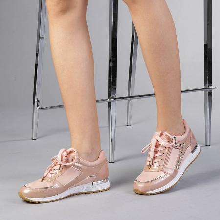 Pantofi sport dama Ressie roz2