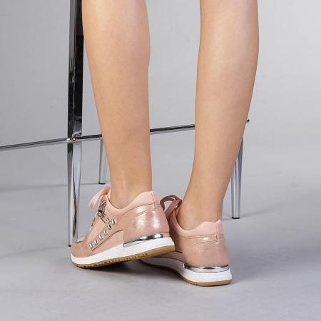 Pantofi sport dama Ressie roz3
