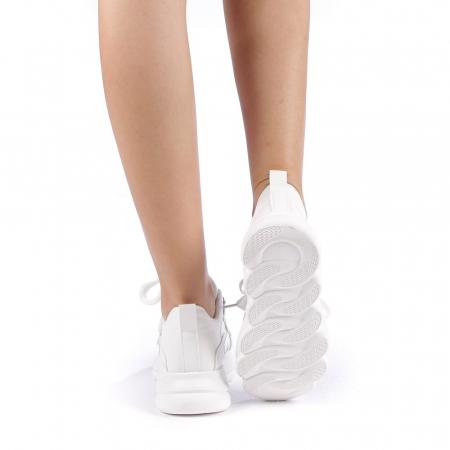 Pantofi sport dama Rika albi2