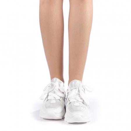 Pantofi sport dama Rika albi3