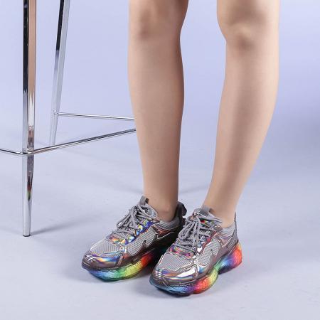 Pantofi sport dama Riya gri2