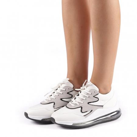 Pantofi sport dama Sadal albi1