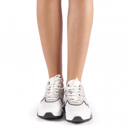 Pantofi sport dama Sadal albi3