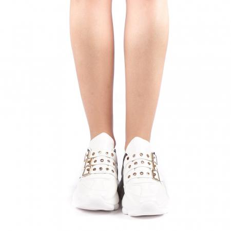 Pantofi sport dama Sandrina albi3