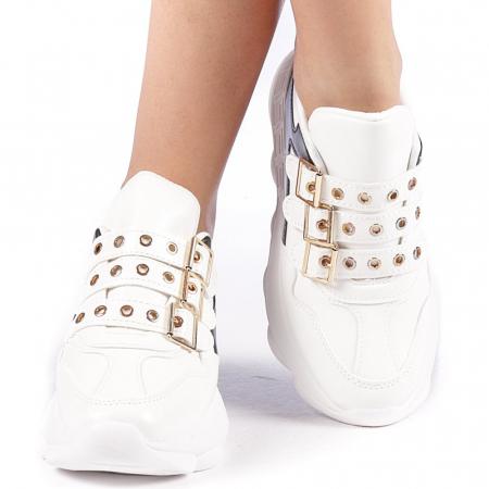Pantofi sport dama Sandrina albi4