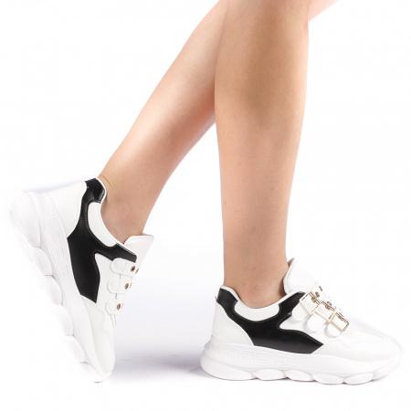 Pantofi sport dama Sandrina albi0