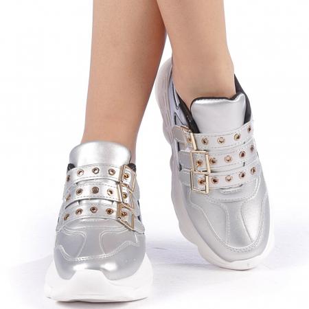Pantofi sport dama Sandrina argintii4