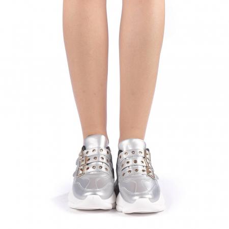 Pantofi sport dama Sandrina argintii3