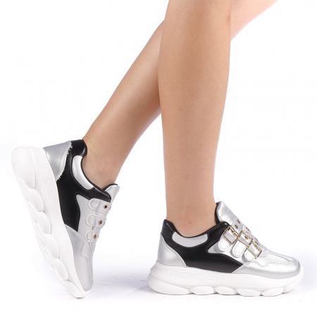 Pantofi sport dama Sandrina argintii0