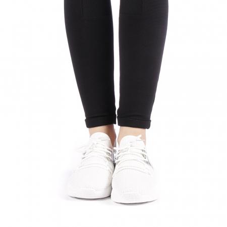 Pantofi sport dama Setena albi4
