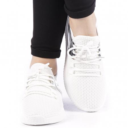 Pantofi sport dama Setena albi1