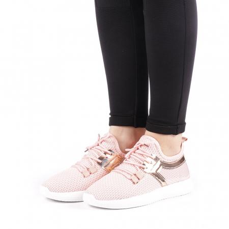 Pantofi sport dama Setena roz2