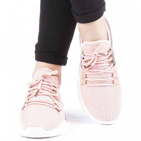 Pantofi sport dama Setena roz1