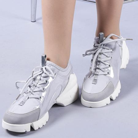 Pantofi sport dama Sonia gri0