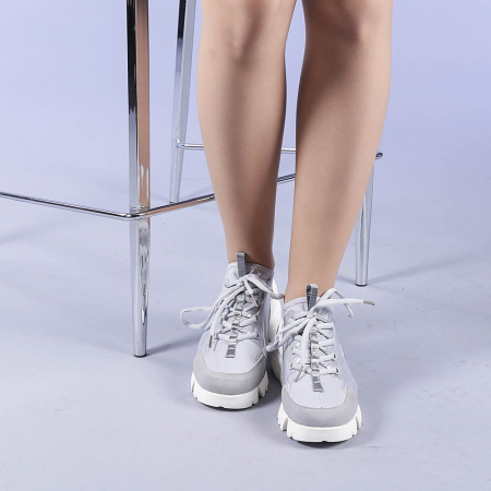 Pantofi sport dama Sonia gri1