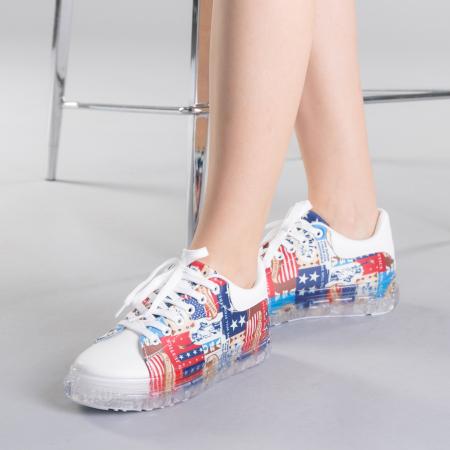 Pantofi sport dama Sorina rosii0