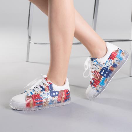 Pantofi sport dama Sorina rosii2