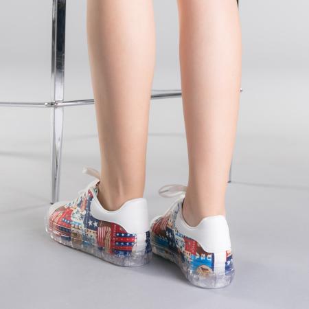 Pantofi sport dama Sorina rosii3