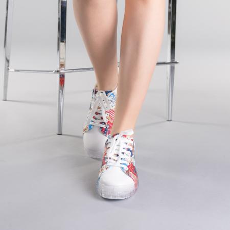 Pantofi sport dama Sorina rosii1