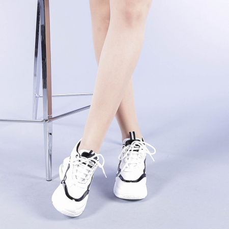 Pantofi sport dama Tameea albi2