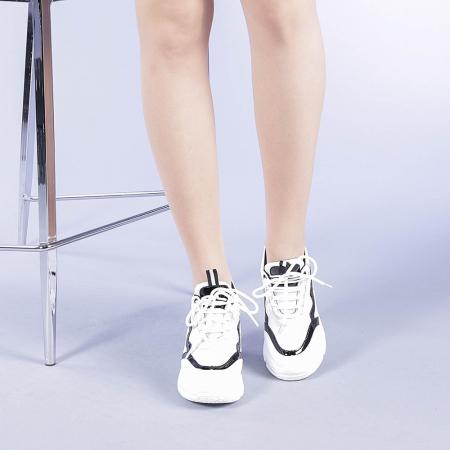 Pantofi sport dama Tameea albi1