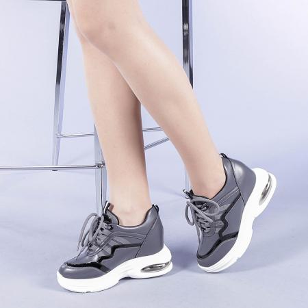 Pantofi sport dama Tameea gri2