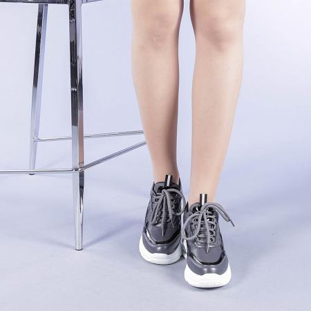 Pantofi sport dama Tameea gri1