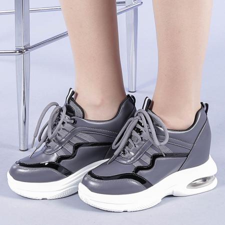 Pantofi sport dama Tameea gri0