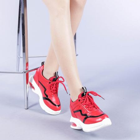 Pantofi sport dama Tameea rosii1