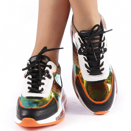 Pantofi sport dama Tamina portocalii4